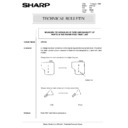 Sharp AR-5132 (serv.man85) Technical Bulletin