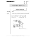 Sharp AR-5132 (serv.man87) Technical Bulletin
