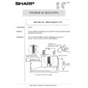 Sharp AR-5132 (serv.man88) Technical Bulletin
