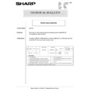 Sharp AR-5132 (serv.man91) Technical Bulletin