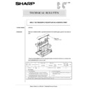 Sharp AR-5132 (serv.man93) Technical Bulletin