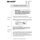 Sharp AR-5132 (serv.man95) Technical Bulletin