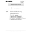 Sharp AR-5132 (serv.man99) Technical Bulletin