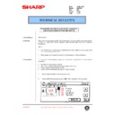 Sharp AR-C150 (serv.man56) Technical Bulletin
