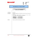 Sharp AR-C150 (serv.man66) Technical Bulletin