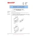 Sharp AR-C250 (serv.man30) Technical Bulletin