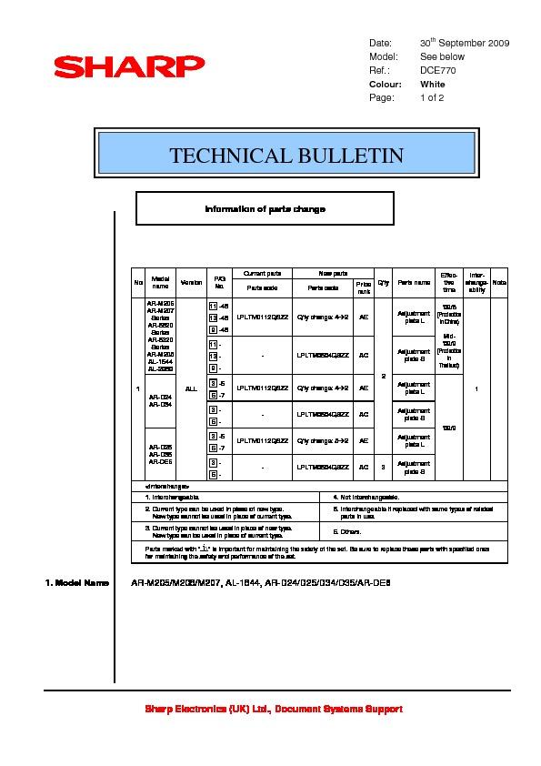 sharp ar d34 serv man4 technical bulletin view online or rh servlib com sharp ar 5520 user's manual sharp ar 5520 operation manual