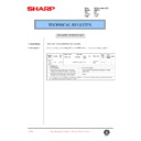 Sharp AR-F201 (serv.man36) Technical Bulletin