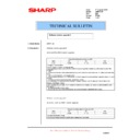 Sharp AR-FR12U (serv.man6) Technical Bulletin