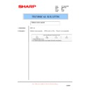 Sharp AR-FR12U (serv.man7) Technical Bulletin