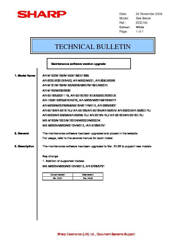 sharp ar m150 serv man28 technical bulletin view online or rh servlib com TCP Port 5631 NexusLink 5631 Password