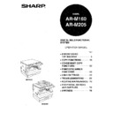 Sharp AR-M160 (serv.man18) User Guide / Operation Manual