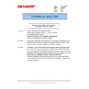 Sharp AR-M160 (serv.man51) Technical Bulletin