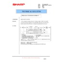 Sharp AR-M160 (serv.man66) Technical Bulletin