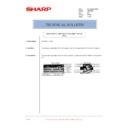 Sharp AR-M160 (serv.man75) Technical Bulletin