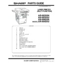 Sharp AR-M35, AR-M450 (serv.man31) Parts Guide