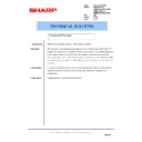 Sharp AR-M35, AR-M450 (serv.man61) Technical Bulletin