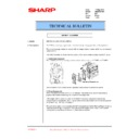 Sharp AR-M35, AR-M450 (serv.man81) Technical Bulletin