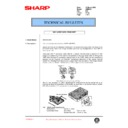Sharp AR-M35, AR-M450 (serv.man89) Technical Bulletin