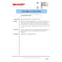 Sharp AR-M351N, AR-M451N (serv.man48) Technical Bulletin