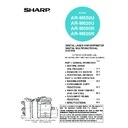 Sharp AR-M550 (serv.man28) User Guide / Operation Manual