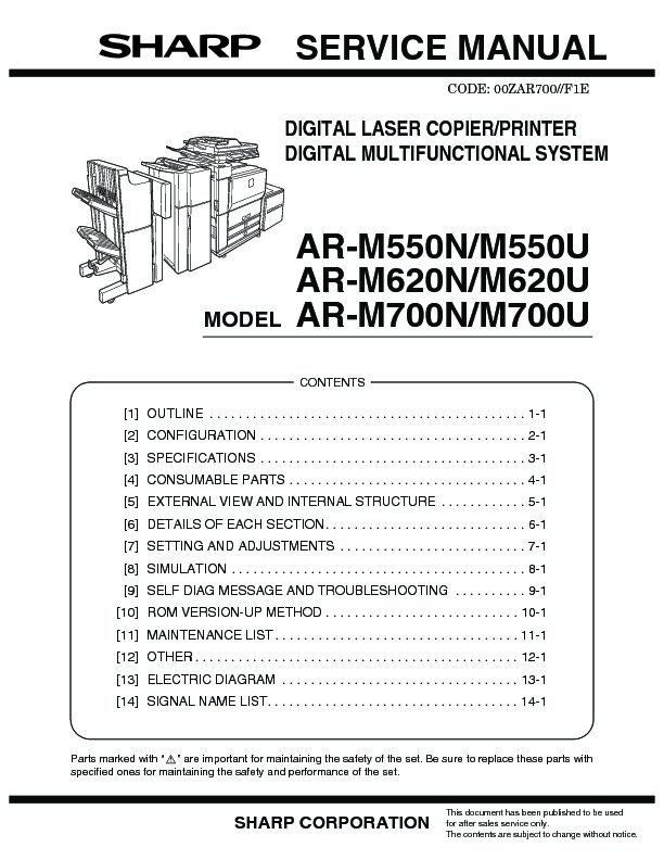 sharp ar m550 serv man4 service manual all data page 16 rh servlib com Sharp AR 168D Drum Assembly AR- M237 Copier