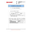 Sharp AR-M700 (serv.man120) Technical Bulletin