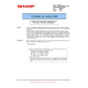 Sharp AR-M700 (serv.man123) Technical Bulletin