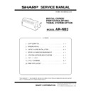 Sharp AR-NB2 (serv.man4) Service Manual