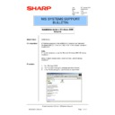 Sharp AR-NC3D (serv.man14) Technical Bulletin