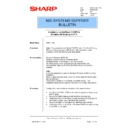 Sharp AR-NC3D (serv.man20) Technical Bulletin