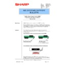 Sharp AR-NC3D (serv.man21) Technical Bulletin