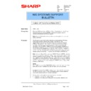 Sharp AR-NC3D (serv.man26) Technical Bulletin