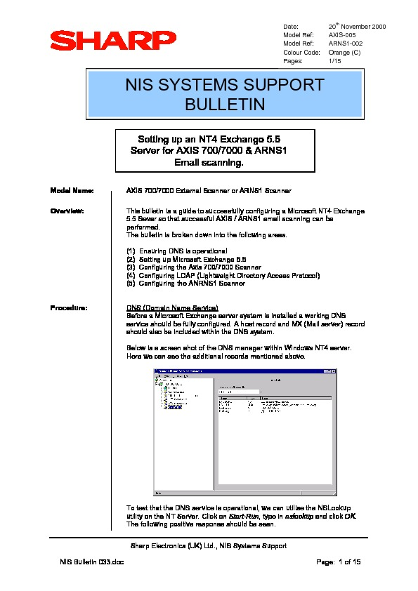 sharp ar ns2 serv man21 technical bulletin view online or rh servlib com NS2 NP3 NS2 Structure