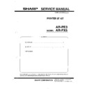 Sharp AR-PE3 (serv.man3) Service Manual