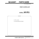 Sharp AR-PE3 (serv.man5) Parts Guide