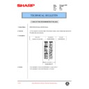 Sharp DM-2000 (serv.man82) Technical Bulletin