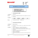 Sharp DM-2000 (serv.man95) Technical Bulletin