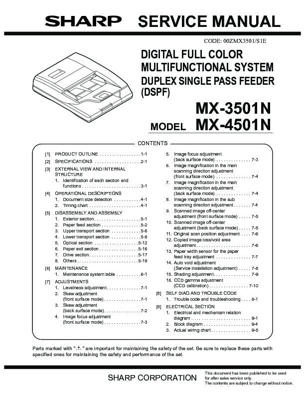 sharp mx 3500n mx 3501n mx 4500n mx 4501n serv man12 service rh servlib com Sharp MX 2300N Manual sharp mx-4501n manual