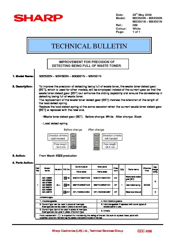 sharp printer service manuals page 622 rh servlib com Sharp MX 2300N Manual sharp mx 4501n user manual