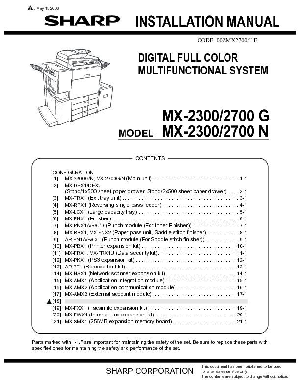sharp printer service manuals page 622 rh servlib com sharp mx-4501n manual sharp mx-4501n service manual