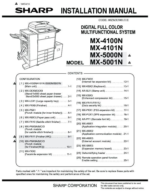 sharp printer service manuals page 628 rh servlib com sharp mx 4100n user manual sharp mx-4100n manual