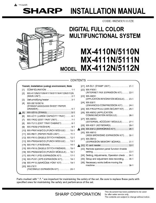 sharp printer service manuals page 633 rh servlib com For Sharp MX M260 Toner Toner Sharp MX B402sc