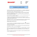 Sharp MX-4140N, MX-4141N, MX-5140N, MX-5141N (serv.man72) Technical Bulletin