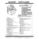 Sharp MX-5050N, MX-5050V, MX-5070N, MX-5070V, MX-6050N, MX-6050V, MX-6070N, MX-6070V (serv.man11) Parts Guide
