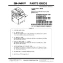 Sharp MX-5050N, MX-5050V, MX-5070N, MX-5070V, MX-6050N, MX-6050V, MX-6070N, MX-6070V (serv.man12) Parts Guide