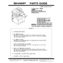 Sharp MX-5050N, MX-5050V, MX-5070N, MX-5070V, MX-6050N, MX-6050V, MX-6070N, MX-6070V (serv.man9) Parts Guide