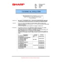 Sharp MX-5500N, MX-6200N, MX-7000N (serv.man106) Technical Bulletin