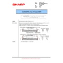 Sharp MX-5500N, MX-6200N, MX-7000N (serv.man144) Technical Bulletin