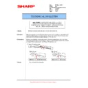 Sharp MX-5500N, MX-6200N, MX-7000N (serv.man145) Technical Bulletin